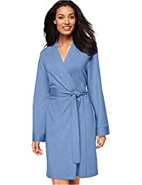 Womens French Terry Heathered Short Robe