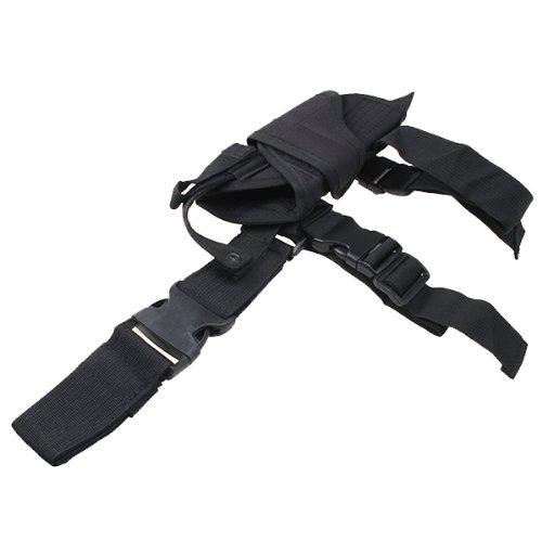 AGPTEK Etui à Pistolet Holster De Cuisse Pistolet Jambe Droite pour Armée Tactique en Nylon Noir et Réglable 5