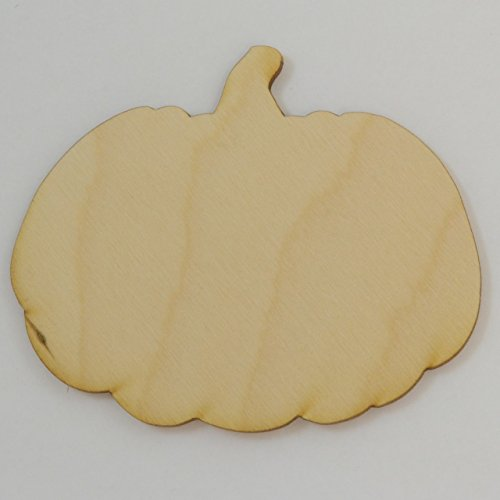 Package Of 10, Pumpkin Wood Cutout 3.5