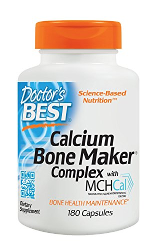 Doctor's Best Calcium Bone Maker Complex with MCHCal, Non-GMO, Gluten Free, Soy Free, 180 Caps - Calcium Orotate