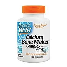 Doctor's Best Calcium Bone Maker Complex, Capsules, 180-Count