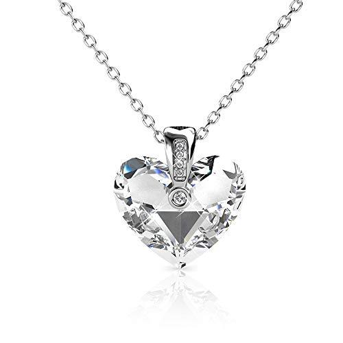 2f28fa57fc4 Necklaces Swarovski Cristal Heart of Love for Women 18 k White Gold