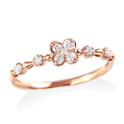 Amazon.com: Solid 14K Rose Gold Diamond wedding ring