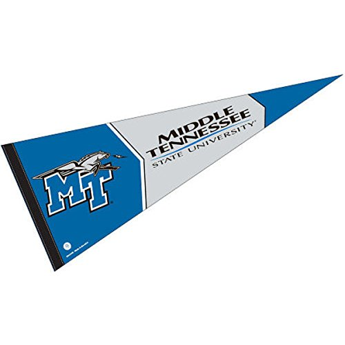 College Flags and Banners Co. Middle Tennessee State Pennant Full Size ()