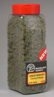 Olive Green Underbrush Clump-Foliage (32 oz. Shaker) Woodland Scenics - Woodland Scenics Tree Armatures