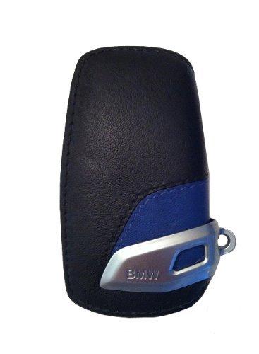 BMW –  Portachiavi in pelle con clip in acciaio INOX cromato Mocha 82292408819