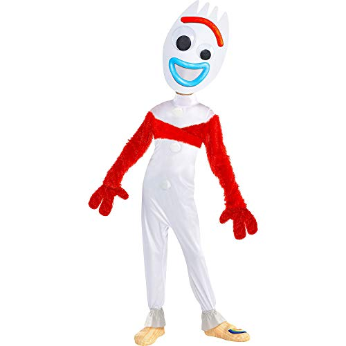 Party City Toy Story 4 Forky Costume for Children, Size 3T to 4T, Includes a Jumpsuit, a Mask, Gloves, a Wrap, and More -