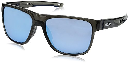 Oakley Men's Crossrange XL Polarized Iridium Square Sunglasses, GREY SMOKE, 58 ()