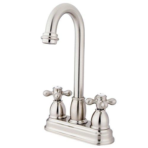 Kingston Brass KB3498AX Restoration 4-inch Centerset Bar Faucet, Brushed -