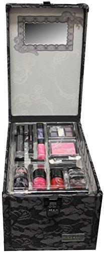 Wet n wild The Color Workshop Beauty Traveller 20 Piece make up Collection Large Train Case-Black Lace