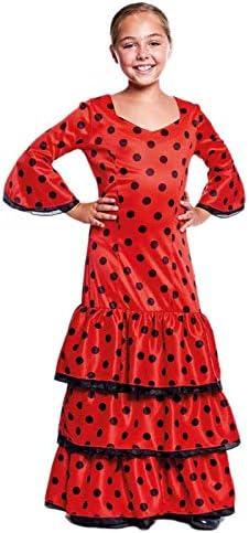 Disfraz Sevillana Rojo Niña (10-12 años) (+ Tallas) Carnaval Mundo ...