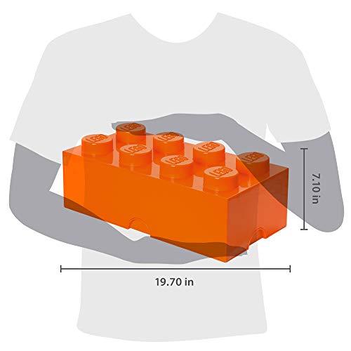 Room Copenhagen 8 Lego Brick Box, Bright Orange