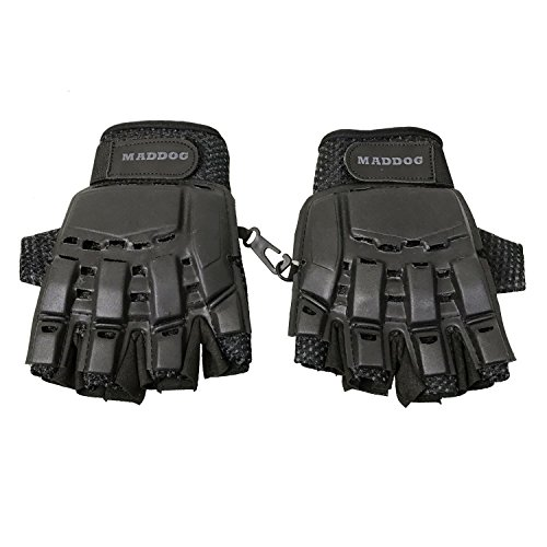 MAddog Tactical Half-Finger Gloves - Black - Large/X-Large