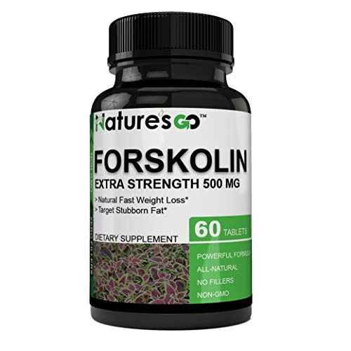Truly Impressive Pure Plant Based Forskolin Extract - 500mg - Best Coleus Forskohlii on The Market - Highest Grade Natural Weight Loss, Promotes a Natural Metabolism, Support Weight & Muscle Tone (Best Weight Loss Pill On The Market 2019)