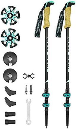 US Ultralight Carbon Fiber External Quick Lock Trekking Pole Walking Stick WF