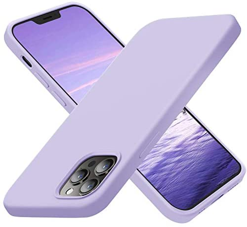 Cordking Compatible with iPhone 12 Pro Max Phone Case, Silicone Ultra Slim Shockproof Phone Case with [Soft Anti-Scratch Microfiber Lining], 6.7 inch, Clove Purple
