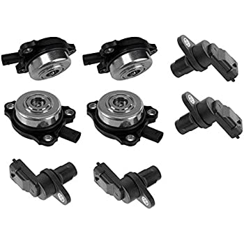 For Mercedes R171 W203 Set of 2 Camshaft Position Sensors /& 2 Adjuster Magnets