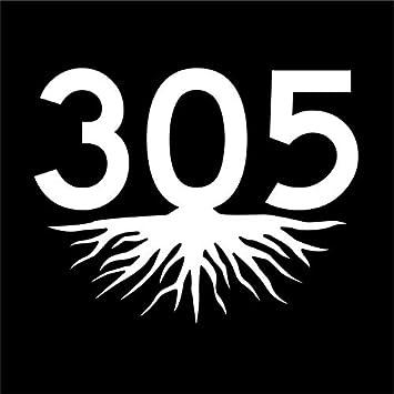 305 AREA CODE OVAL STICKER
