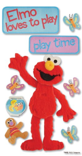 Large 3 D Stickers - Jolee's Boutique Large 3-d Stickers Sesame Street Playtime Elmo Theme $5.99 Retail