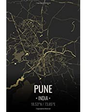 Pune India: City Map Notebook for Travelers Notebook for Travelers | Writing Sheets Notebook - Lined Notebook Journal 6x9 Inches | 100 Pages