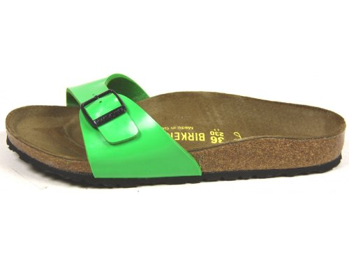 Birkenstock Slipper ''Madrid'' aus Birko-Flor in Green Lack