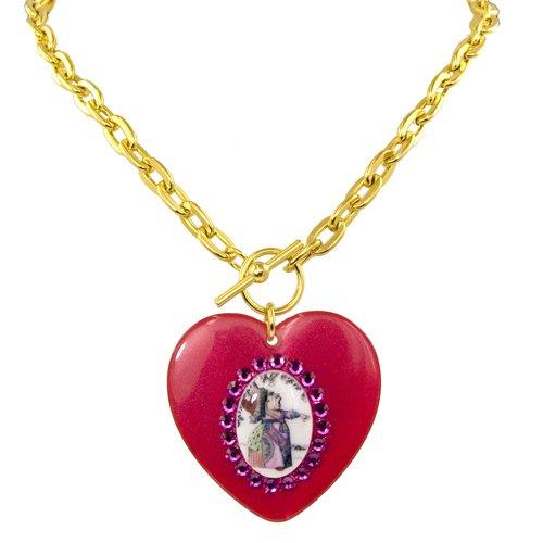 Necklace Heart Tarina Tarantino By (Tarina Tarantino Queen Alice Heart Necklace (Red))