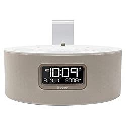 IHOME iDL46WHC iPad/iPhone/iPod Dual-Charging Stereo FM Clock Radio with Lightning Connector