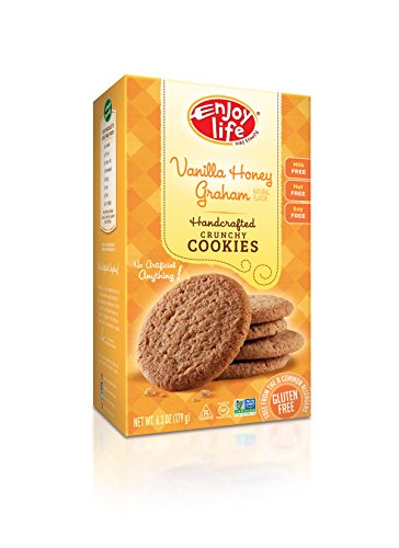 Enjoy Life Crunchy Cookies, Gluten-Free, Dairy-Free, Nut-Free and Soy-Free, Vanilla Honey Graham, 6.3 Ounce (Pack of 6) (Soy Dairy Free)