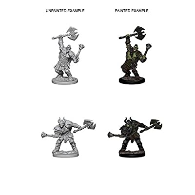 Pathfinder Deep Cuts Unpainted Miniatures: Wave 3: Half-Orc Male Barbarian: Toys & Games