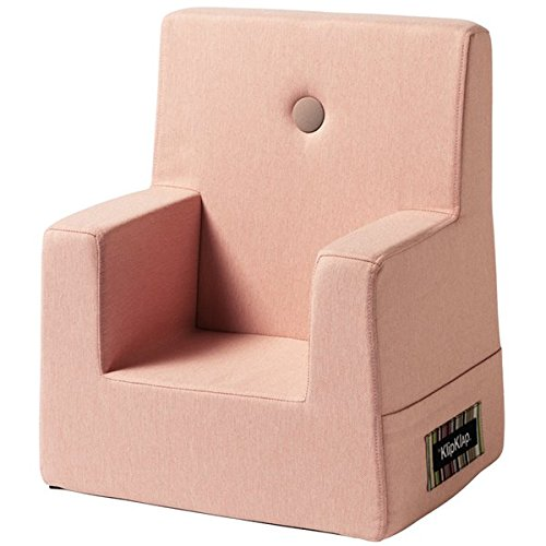 by KlipKlap Kids Chair XL - Soft rose with rose button