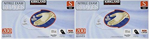 Kirkland Signature Latex-Free Nitrile Exam Multi-Purpose Gloves, Small, 400 Count by Kirkland Signature (Image #2)