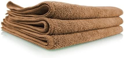 24 in. x 16 in. Leather /& Vinyl Chemical Guys MIC36203 Workhorse XL Tan Professional Grade Microfiber Towel Pack of 3