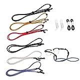 6 Pcs Eyeglasses String Holder Straps, Adjustable Safety Eyewear Rope Around Neck Chains for Women, Men, Kids, Sports Fishing Glasses Retainer Cord Lanyard for Most Sunglasses Reading Glasses
