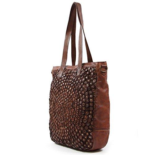 old-trend-leather-tote-stellar-stud-tote-bag-cognac