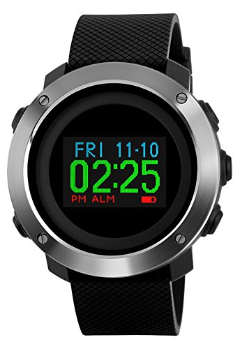 Tonnier OLED Display Multifunction Digital Sport Watch Color Screen Mens Watches price tips cheap