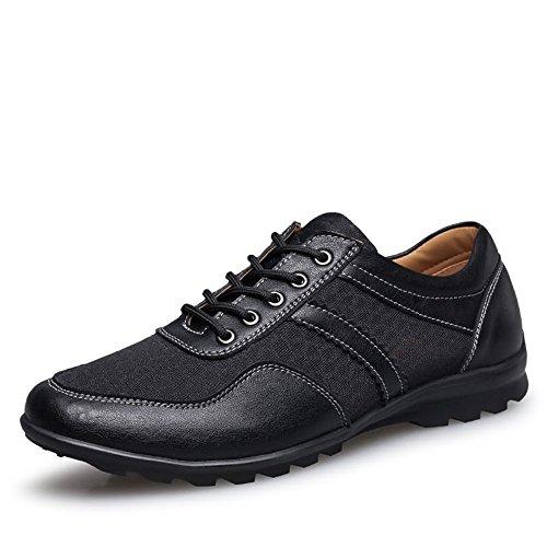 Cachi Driving 45 Men's Dimensione Uomo Style da Nero Color Heel Yajie Loafer EU Lace Vamp alla moda Solid Flat Splice 2018 Up Scarpe Mocassini Color shoes British wpgBSY