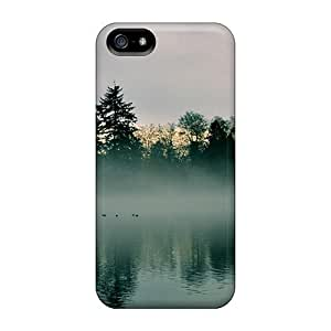 Iphone 5/5s Case Cover A Foggy Quiet Morning At The Lake Case - Eco-friendly Packaging