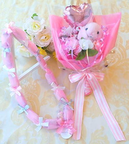 キャンディブーケバルーンうさぎ (ピンク)キャンディレイ1個付き