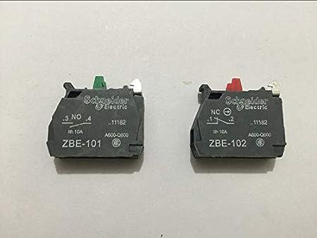 10pcs TELEMECANIQUE ZBE-101 NO ZBE-102 NC Contact Block Replaces TELE 10A 400V - (Color: NC): Amazon.com: Industrial & Scientific