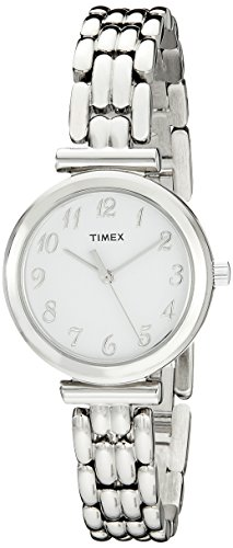 Timex Women's T2P2009J Elevated Classics Dress Silver-Tone Bracelet (Dress Watch Bracelet)