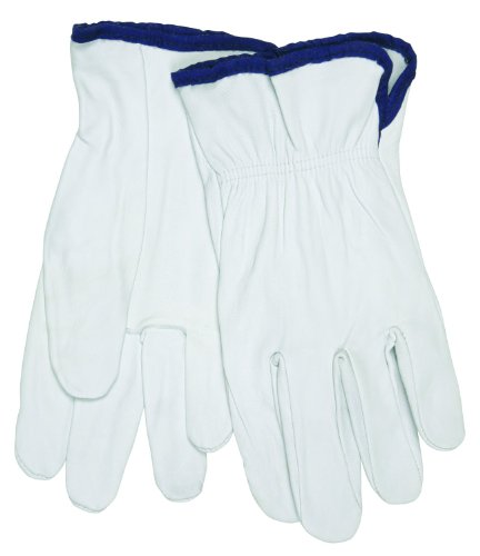 Memphis Gloves 3601XL Grain Goatskin Driver Gloves  White  E