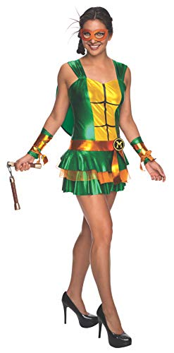 Secret Wishes Women's Teenage Mutant Ninja Turtles Michelangelo Costume Dress, Multi, Medium