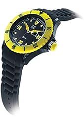 40Nine Unisex 40NINE02/BLACK50 Black and Yellow Watch