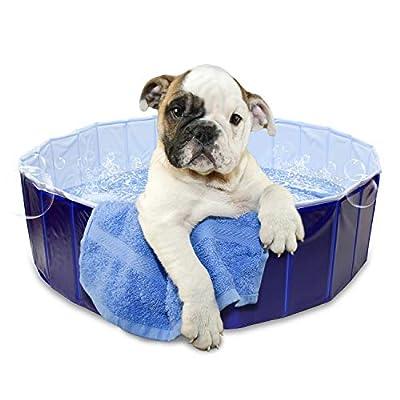 MiMu Pet Swimming Pool Collapsible Dog Pool, Kiddie Pool, Baby Pool, Dog Bath Wading Pool Large 48in x 11.8in: Pet Supplies