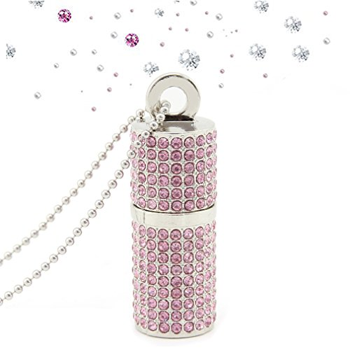 Novelty Cute Jewelry Crystal Lipstick Shape 32GB USB 2.0 Flash Drive Bling Rhinestone Diamond Glitter Shining Necklace Pen Drive Thumb Drive Memory - Drive Flash Bling