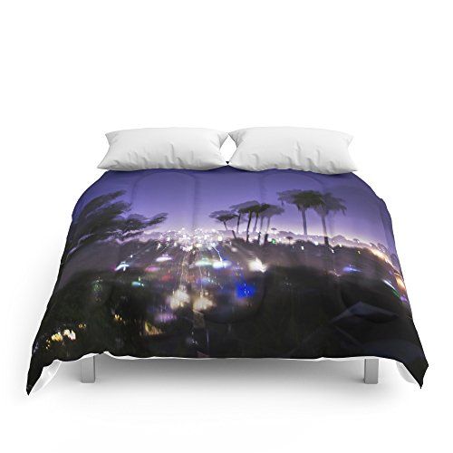 "Society6 Chasing Light In Los Angeles Comforters Queen: 88"" x 88"""