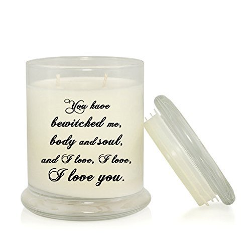 Elizabeth Candle - You Have Bewitched Me Body and Soul and I Love You 8.5 oz. Soy Candle - Mr. Darcy Elizabeth Bennet - Pride and Prejudice - Jane Austen - Wedding Anniversary Gift - Very Vanilla Scented