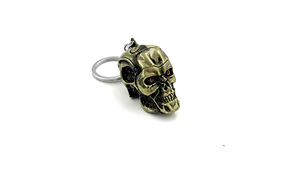 The Terminator T-800 Skull Mask Alloy Key Chains Keychain Keyfob Keyring