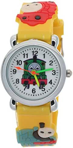 TimerMall Thomas and Friends Kids Blue Rubber Strap Round Dial Analogue Quartz Watches