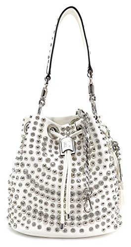 LA CARRIE BAG SECCHIELLO MEDIO 181-E-146 MIRROR WHITE
